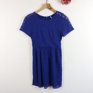 [FREE PEOPLE] Royal Blue Lace Skater Dress